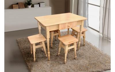 Комплект кухонный (стол + 4 табуретки)