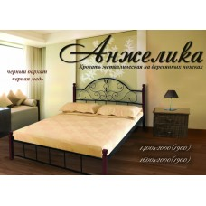 Кровать Метал-Дизайн Анжелика с деревянными ногами