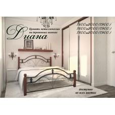 Кровать Метал-Дизайн Диана с деревянными ногами