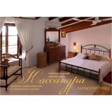 Кровать Метал-Дизайн Кассандра с деревянными ногами